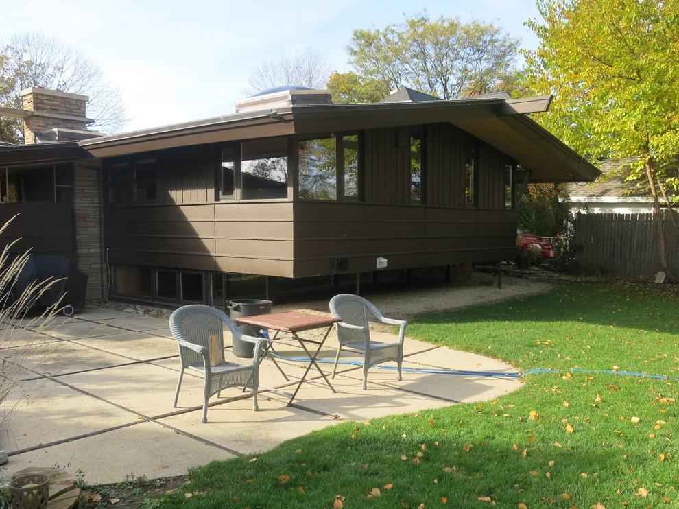 Mid century Modern Landscape Renovation - Racine