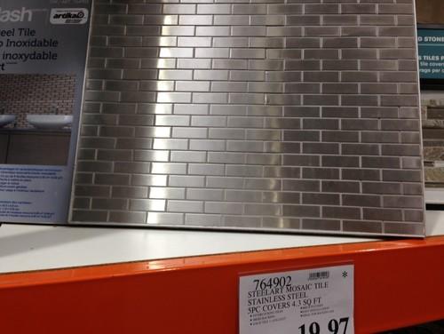 Tile Backsplash For Kitchen Stainless Steel