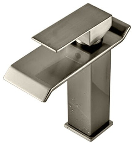 Waterfall Sink Faucet Brushed Nickel