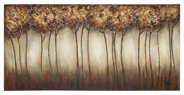 New Traditional Canvas Art, Brown Multi