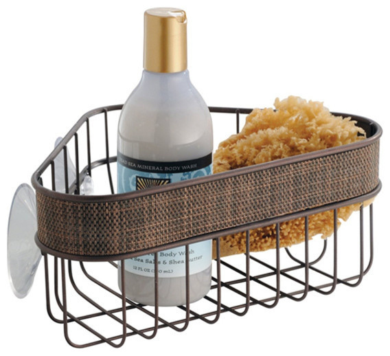 Shower Corner Basket, Bronze