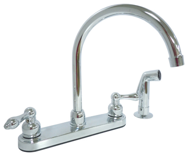 dominion kitchen faucet with spray chrome plated