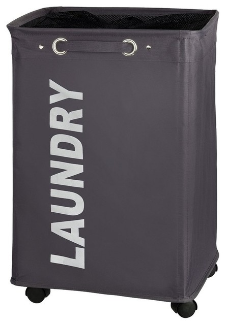 laundry bin quadro grey
