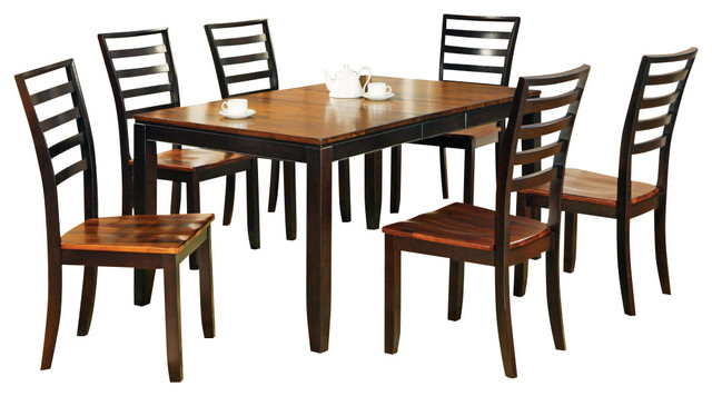 Steve Silver Abaco 7 Piece Dining Room Set With Leaf Transitional Sets