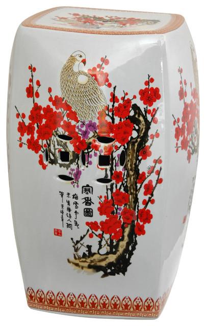 Peachy 18 Square Cherry Blossom Porcelain Garden Stool Ibusinesslaw Wood Chair Design Ideas Ibusinesslaworg