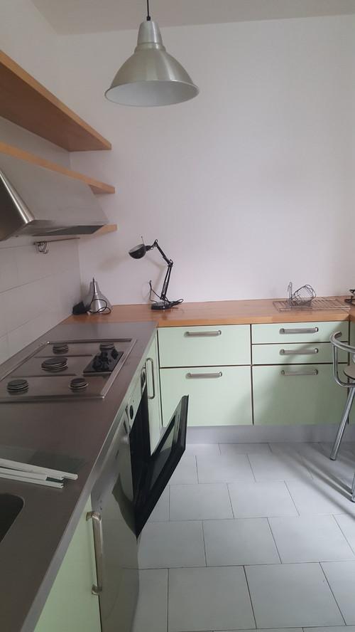 come rendere meno verde... una cucina verde