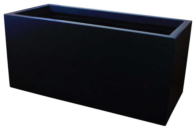 Badalona Rectangular Planter Box Contemporary Outdoor Pots And