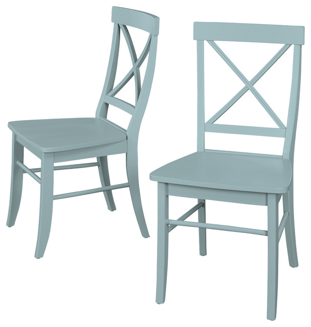 Albury Dining Chair, Antique Blue, Set Of 2.