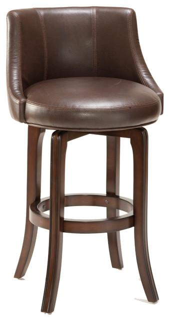 Napa Valley Swivel Stool, Brown, Bar Height