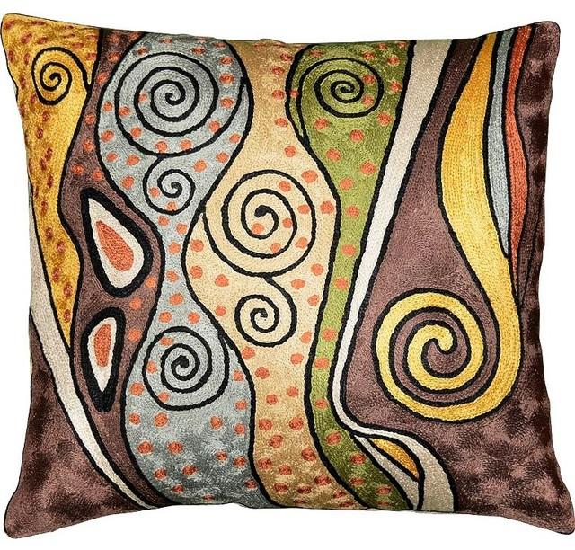 Klimt Art Nouveau Decorative Pillow Cover Ii Hand