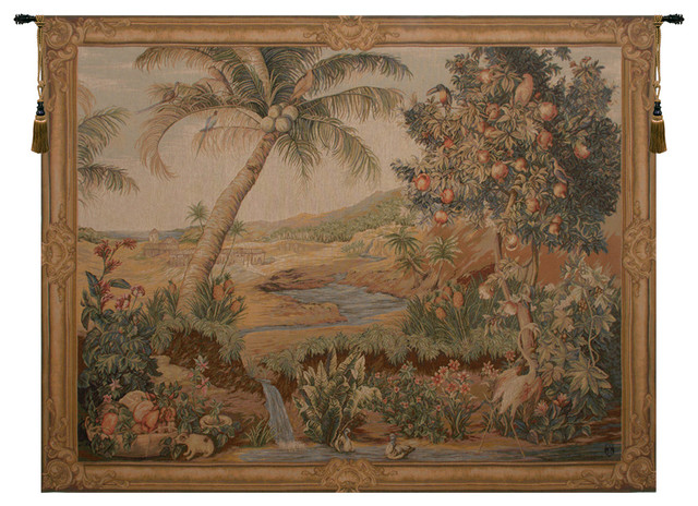 L Oasis I European Tapestry Wall Hanging