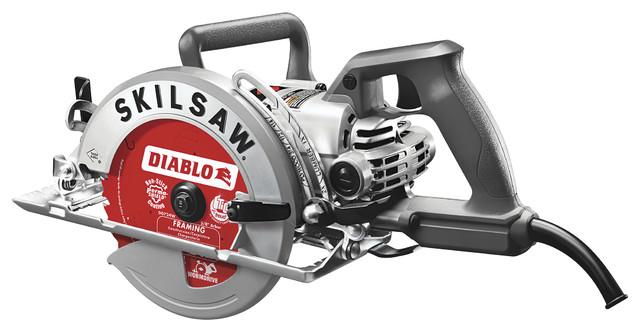 Skil Spt77w-22 7-1/4 Aluminum Worm Drive With Diablo Carbide Blade.