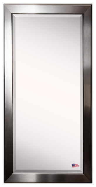 """American Made Rayne Silver Rounded Extra Tall Floor Mirror, 29""""x1""""x69.5""""."""