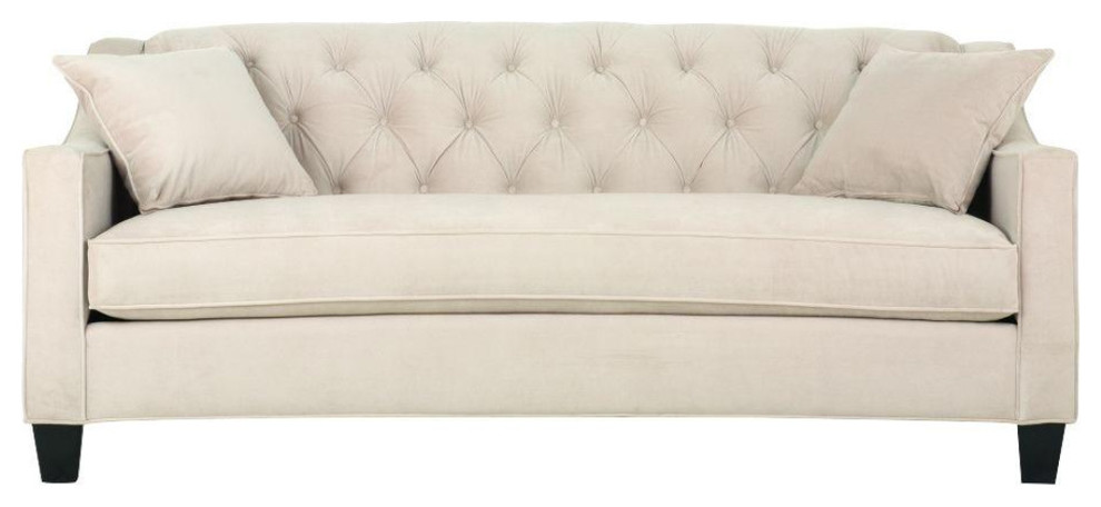 81 5 Pearl Polyester Tufted Sofa
