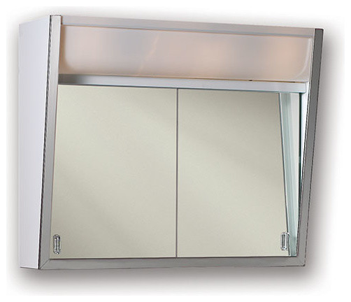 "Flair 23 3/4""x19 3/8"" Surface Mount Lighted Medicine Cabinet."