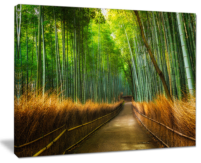 "Forest Wall Art arashiyama bamboo grove japan"" oversized forest wall art - asian"