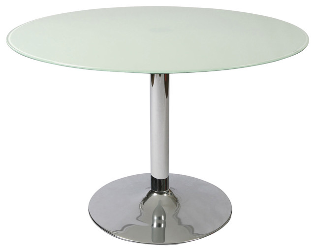 Pastel Sundance Round Frosted Glass Dining Table In Chrome Dining Tables