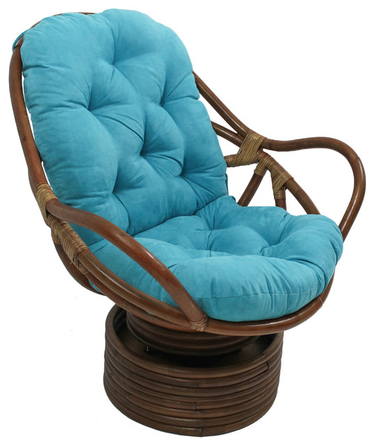 48 Quot X24 Quot Solid Micro Suede Swivel Rocker Cushion