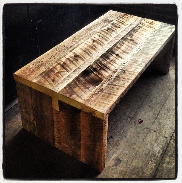kerf reclaimed barn board coffee table - Barn Board Coffee Tables
