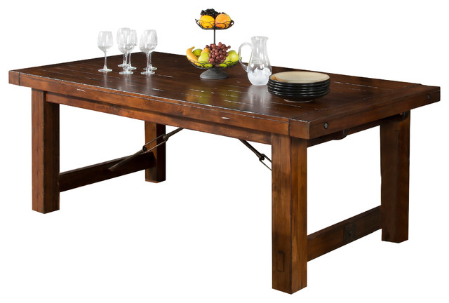 tuscany extension table craftsman dining tables by sunny designs inc. Black Bedroom Furniture Sets. Home Design Ideas