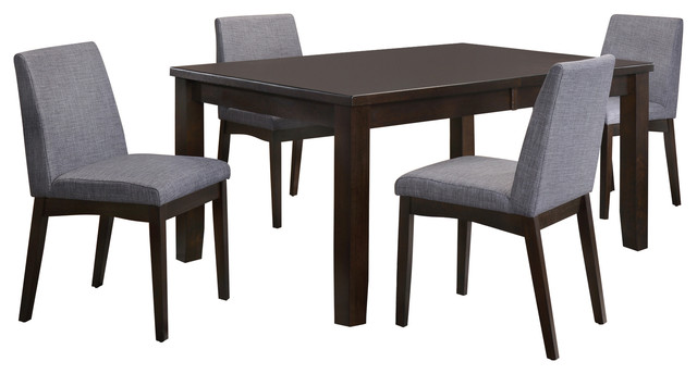 Pyke 5-Piece Dining Set, Table And 4 Side Chairs.