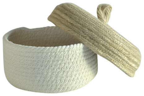 Cotton Box With Jute Lid, Small