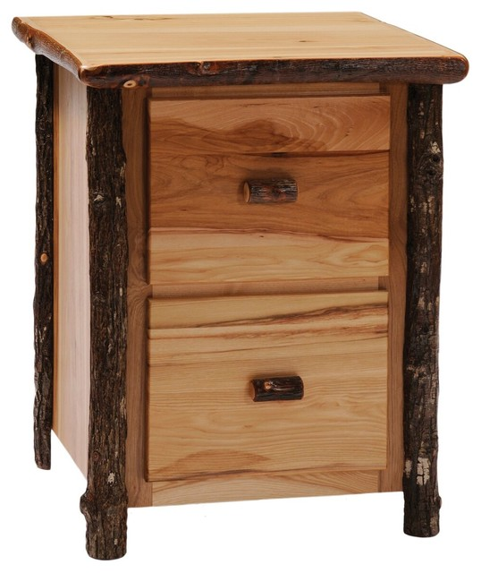 Hickory Two Drawer File Cabinet, Traditional Hickory ...