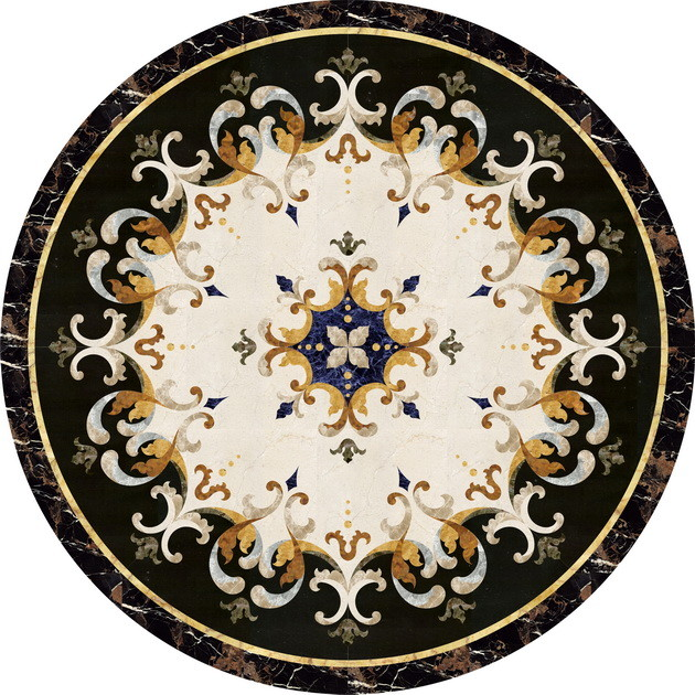 Waterjet Polished Floor Medallions Tile Medallion Marble Inlay - 36 inch marble tile
