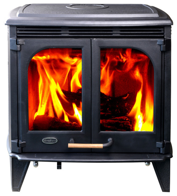 HiFlame 85,000 BTU/h Extra Large Wood Stove With Double Glass Doors