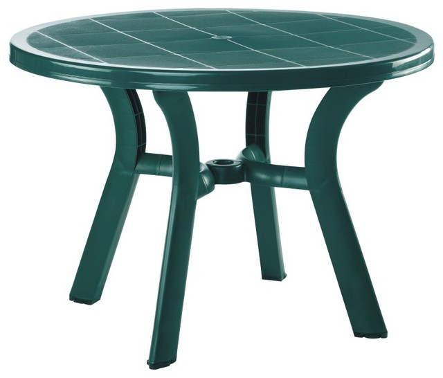 Truva Resin Round Dining Table 42 Inch Contemporary Outdoor Dining Tables