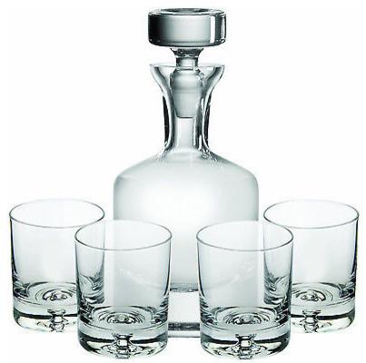 Ravenscroft Crystal Buckingham 32 Oz Whisky Decanter 5 Piece Gift Set Lead Free