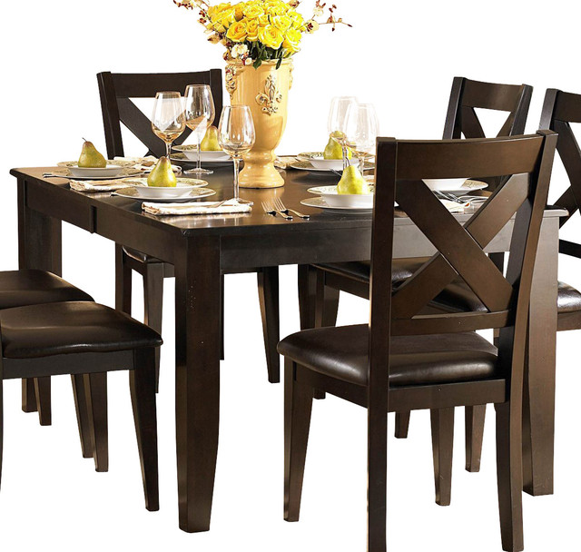 Homelegance Crown Point 9 Piece Dining Room Set In Merlot