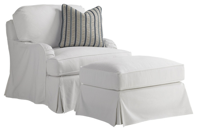 Lexington Coventry Hills Stowe Slipcover Accent Chair, White by Lexington