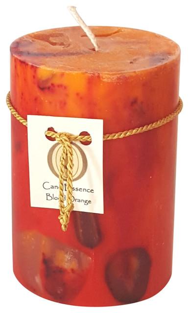 Long-Burning Blood Orange Scented Pillar Candle ...