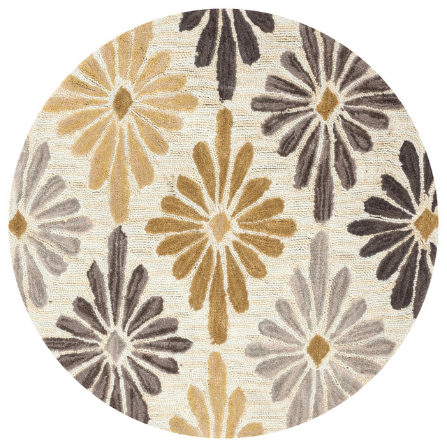 loloi gabriella collection rug ivory and gold 3u0027 round