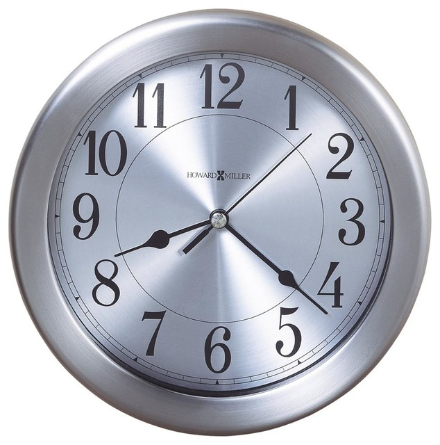 Pisces Round Wall Clock w Brushed Nickel Fini