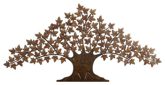 Amabel Metal Tree Wall Decor Contemporary Metal Wall Art