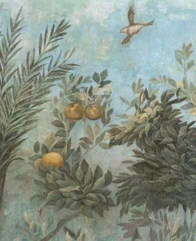 Fine Art Murals Detail Showing Scene From Roman Fresco Of Tree With Birds    24 Contemporary Part 62