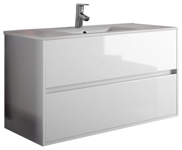 Bathroom Vanities White modern bath vanity model concetto 6000, white - modern - bathroom