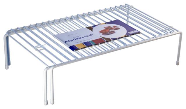 Adjustable Cabinet Shelf, White
