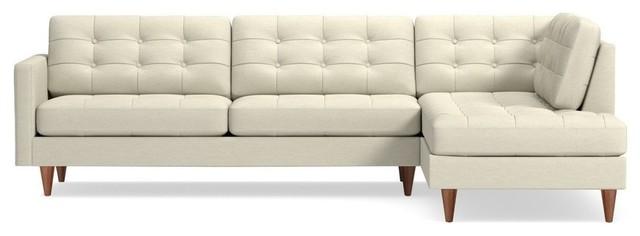 Lexington 2-Piece Sectional Sofa, Cream, Chaise on Right