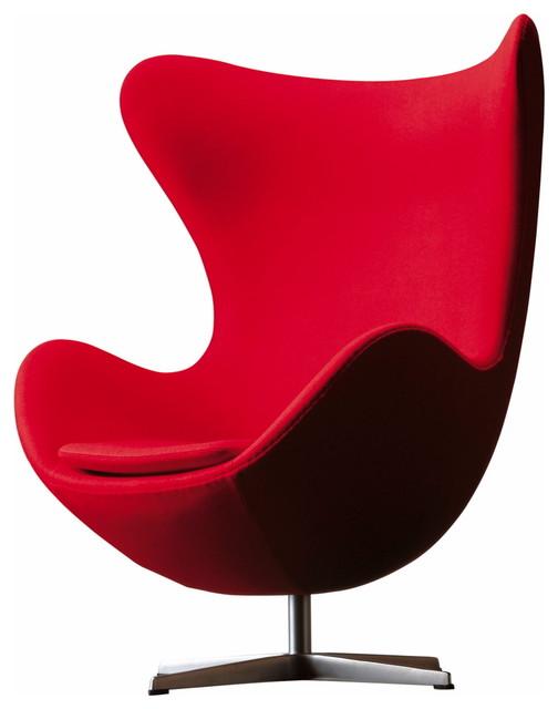 Arne Jacobsen Egg Chair, Red