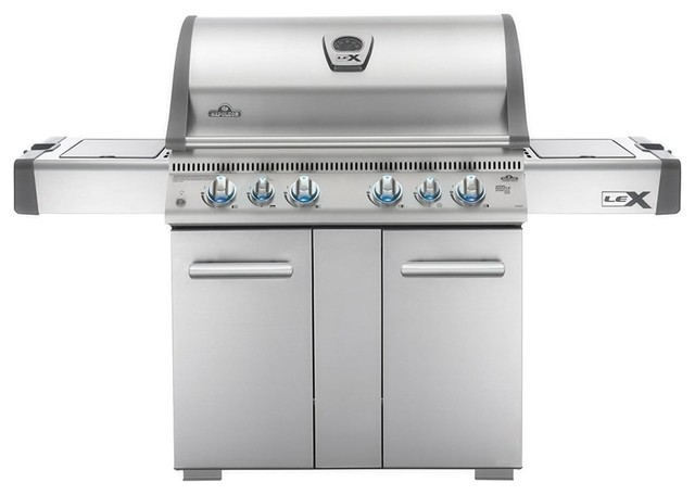 Napoleon Lex605rsbip Lex Bbq Grill Freestanding, Stainless Steel.