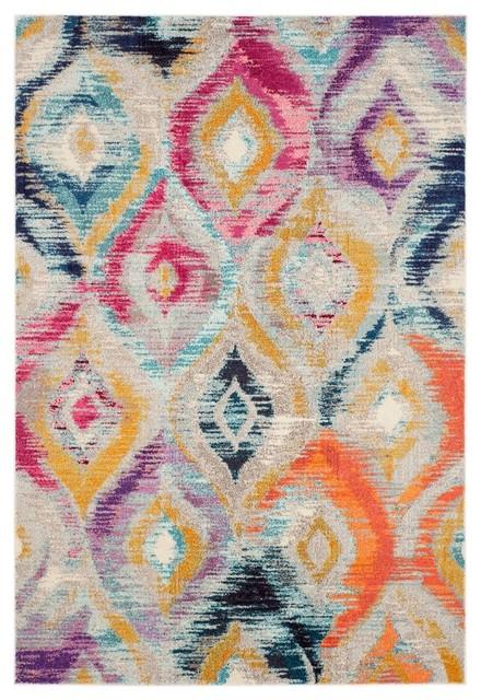 Vistoso Woven Rug, Multicoloured, 200x279 cm