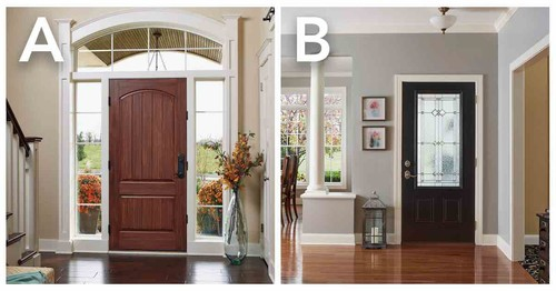 Which Entry Door Do You Prefer? Sidelights Or No Sidelights U2014 A Or B?