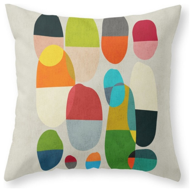 Jagged Little Pills Throw Pillow - Contemporary - Decorative Pillows - by Society6
