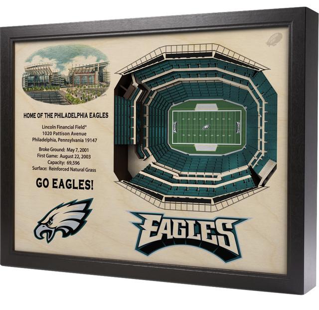 Philadelphia Eagles Lincoln Financial Field 3 D Wall Art