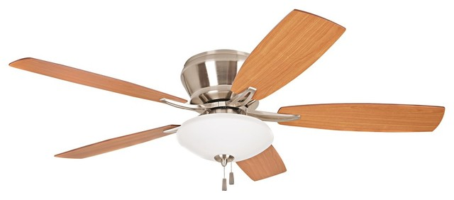 "Craftmade 52"" Atmos Ceiling Fan, Brushed Polished Nickel/golden Maple/cherry."