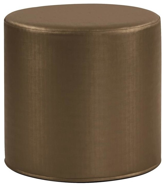 Howard Elliott Luxe No Tip Cylinder Ottoman Contemporary