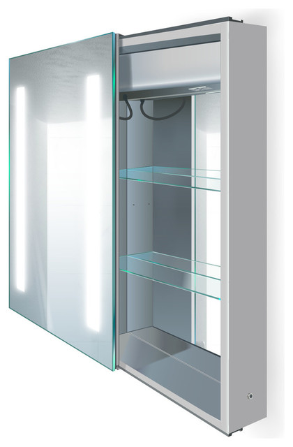 Led Medicine Cabinet Left Sliding Mirror Door With Defogger And